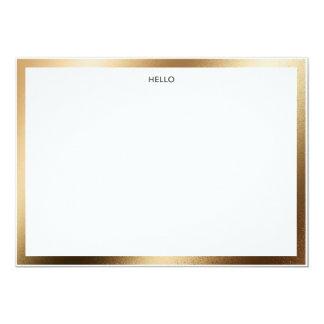 Hello Gold Border Notecard