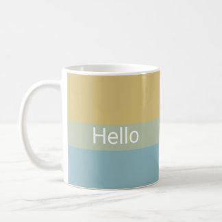Hello Goodbye Khaki Color Palette Minimal Classy Coffee Mug