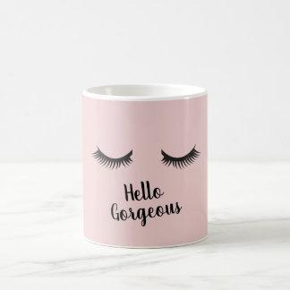 Hello Gorgeous Eye Lashes Coffee Mug