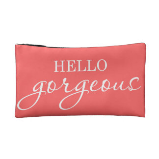 """Hello Gorgeous!"" make up bag"