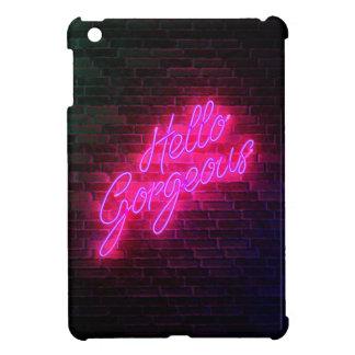Hello Gorgeous - Neon SIgn iPad Mini Covers