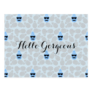"""""""Hello Gorgeous"""" Pineapple Postcard"""