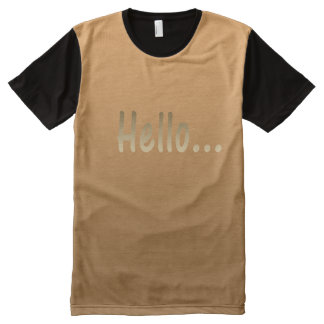 Hello Gradient Golden All-Over Print T-Shirt