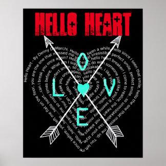 Hello Heart by Denny DeMarchi Lyrics Poster