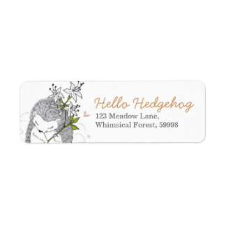 Hello Hedgehog Return Address Label