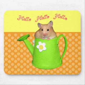 Hello hello hamster mouse pad