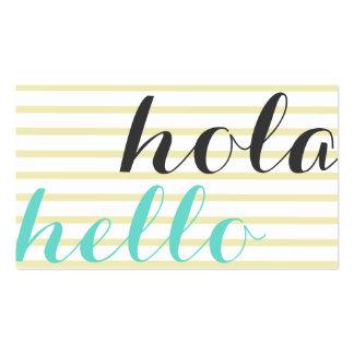 Hello hello, interpreter translator professor business card