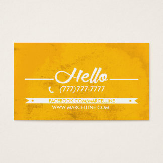 Hello hexagon grunge business card