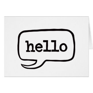 Hello (Hi Hello Greetings) - A7 (Landscape) Card