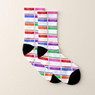 Hello Hola Ciao Men Women Socks
