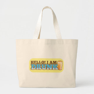 Hello I am DRUNK! from The Beer Shop Large Tote Bag