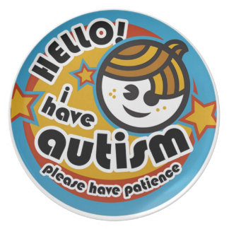 HELLO I HAVE AUTISM - AWARENESS PLATE