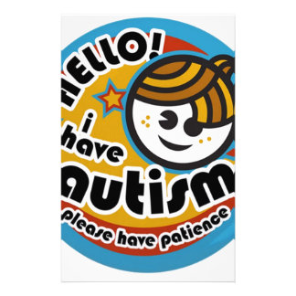 HELLO I HAVE AUTISM - AWARENESS STATIONERY