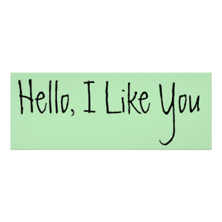 hello i like you poster