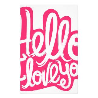 Hello I love you Stationery