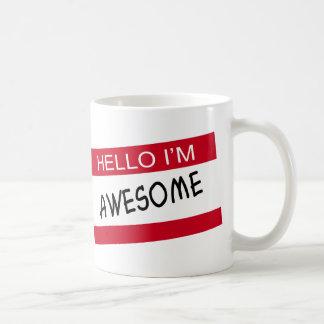 Hello Im Awesome Basic White Mug