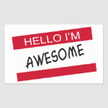 Hello Im Awesome Stickers