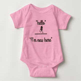 Hello I'm new here Baby Shirt by Julie Everhart