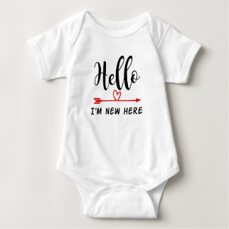 Hello, I'm New Here Baby Vest Baby Bodysuit