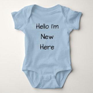 Hello I'm New Here Romper Baby Bodysuit