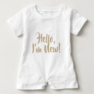 Hello, I'm New! Romper Baby Bodysuit