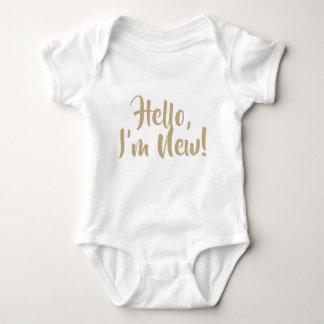 Hello, I'm New! Vest Baby Bodysuit