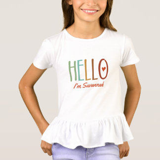 """Hello I'm..."" Personalized T-Shirt"