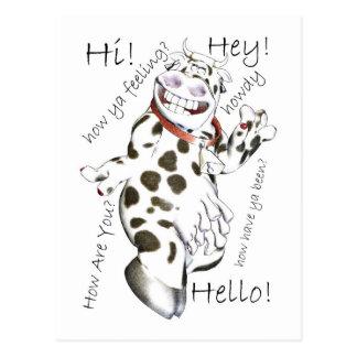 Hello in lots of ways, Hey, Hi, How Ya feeling, cu Postcard