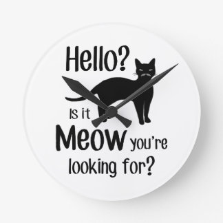 Hello is it meow you are looking for wall clock