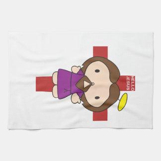 Hello Jesus Tea Towel