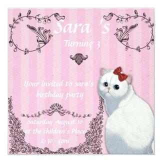 Hello Kitty Fancy  Party 13 Cm X 13 Cm Square Invitation Card