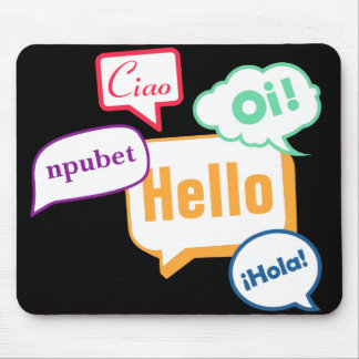 Hello | Languages Mouse Pad