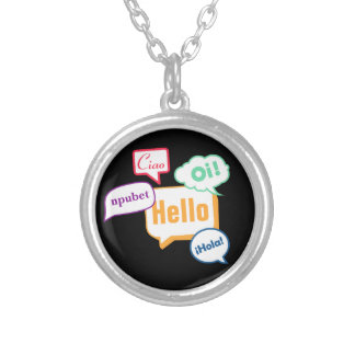 Hello | Languages Silver Plated Necklace