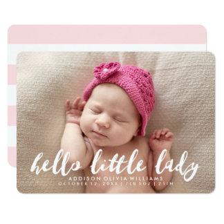 Hello Little Lady | Photo Birth Announcement