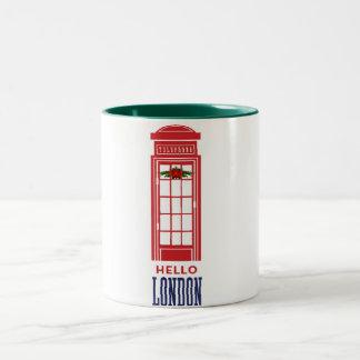 hello london merry christmas design holiday mug