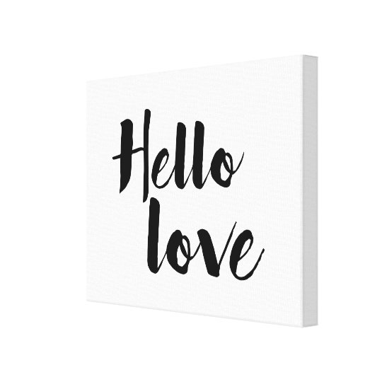 Hello Love Canvas Print