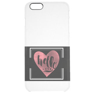 Hello Love Clear IPhone Case