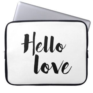 Hello Love Laptop Sleeve
