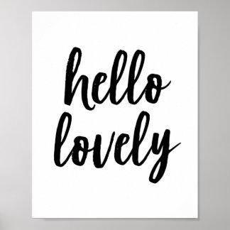 Hello Lovely | Typography Art Print