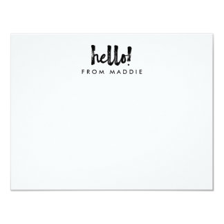 Hello Marker Pen Personalized Note Card