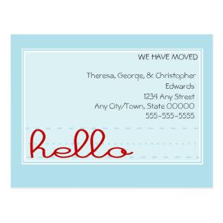 Hello Moving Announcement Postcard