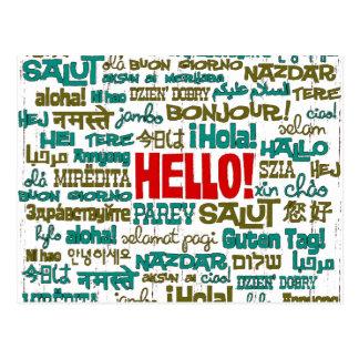 Hello (Multi Language) Postcard