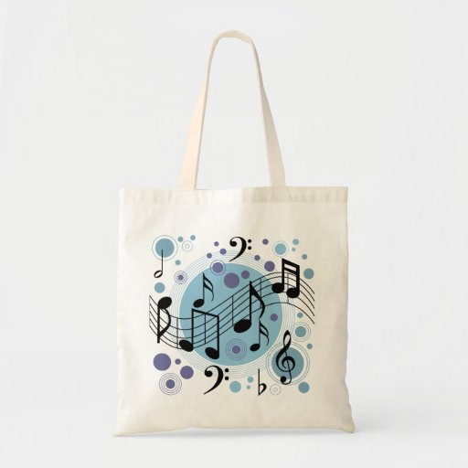 hello music budget tote bag
