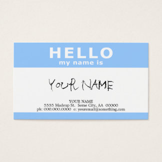 hello my name is :