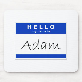 Hello My Name Is Adam Mouse Pad