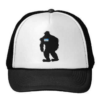 Hello-My Name Is BigFoot Mesh Hat