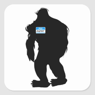 Hello-My Name Is BigFoot Square Sticker