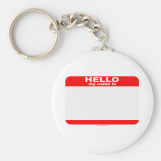 Hello my name is BLANK copy Basic Round Button Key Ring