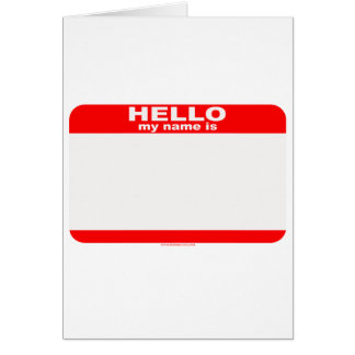 Hello my name is BLANK copy Cards