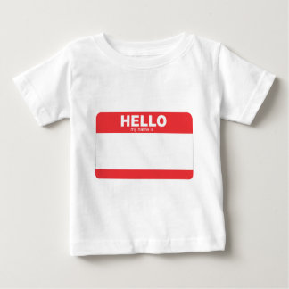 hello my name is blank name tag.png baby T-Shirt